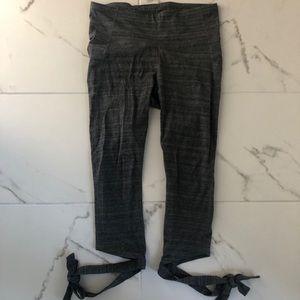 Gray Ankle Tie Leggings